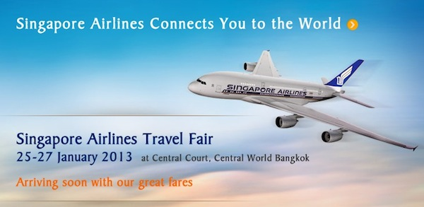 Promotion Singapore Airlines Travel Fair 2013