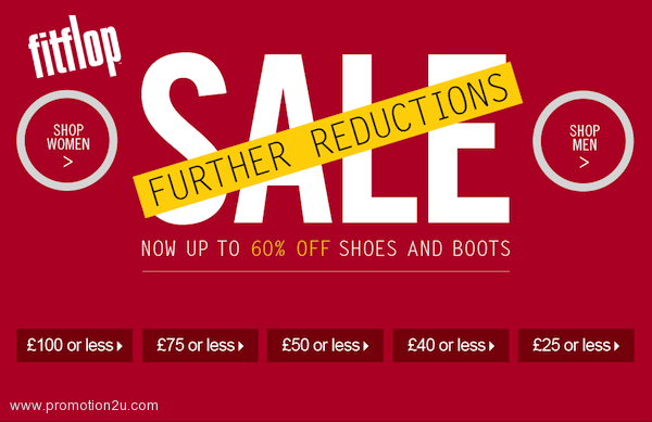 Promotion Fitflop Sale up to 60% off @ Fitflop.co.uk [Jan.2013]