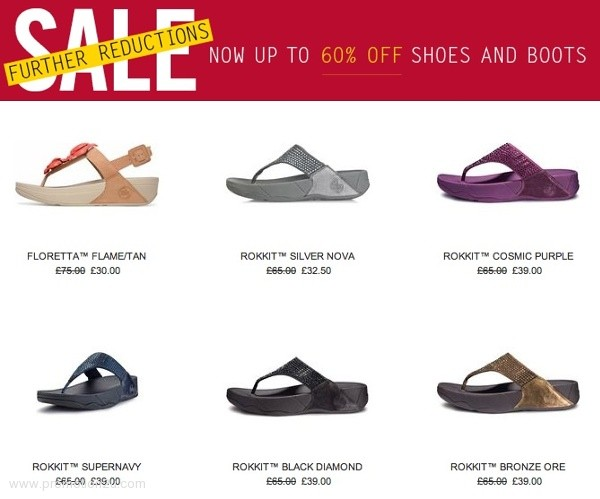 สินค้าเซลที่ Fitflop Sale up to 60% off @ Fitflop.co.uk [Jan.2013]
