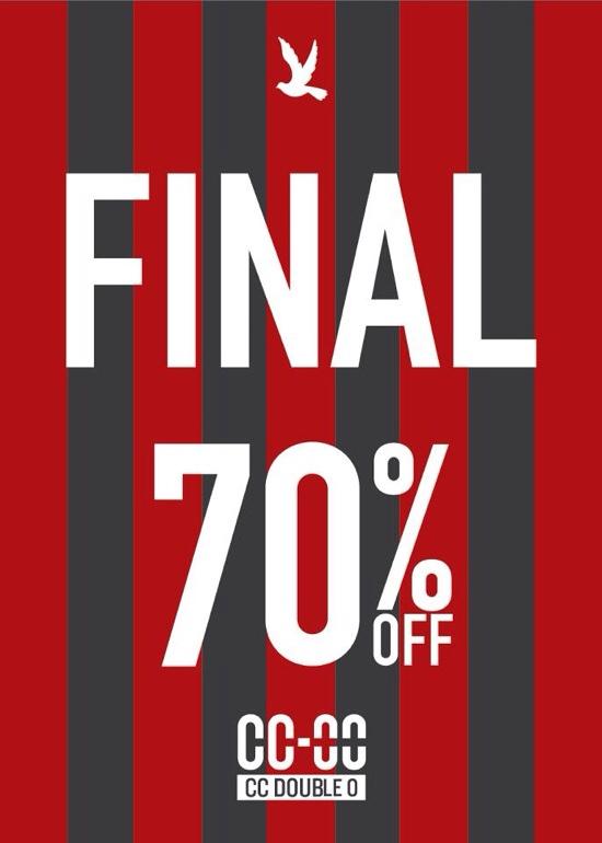 โปรโมชั่น CC Double O End Of Season Sale ลดสูงสุด 70% (มค.56)