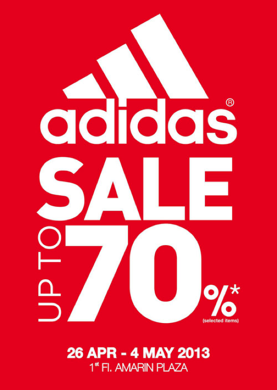 Promotion Adidas Sale up to 70% off @ Amarin Plaza [Apr.-May.2013]