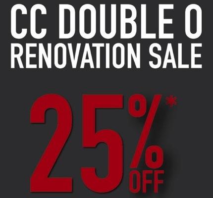 Promotion CC DOUBLE O Renovation Sale 25% @ Central Pinklao [Apr.2013]