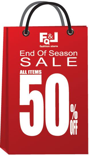 โปรโมชั่น FQ&L END OF SEASON SALE ลด 50% ทั้งร้าน (เมย.-พค.56)
