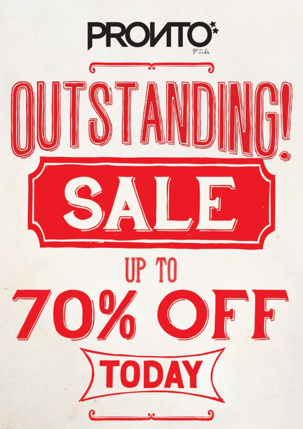 Promotion Pronto Denim Sale up to 70% off [Apr.2013]