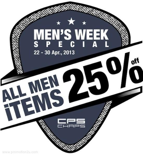 โปรโมชั่น CPS CHAPS Men's Week สินค้าผู้ชายลด 25% ทุกชิ้น (เมย.56)