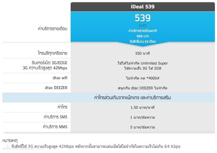 แพ็กเกจ iDeal 539 ความคุ้มใหม่ รับส่วนลดสูงสุด 11,040 บาท