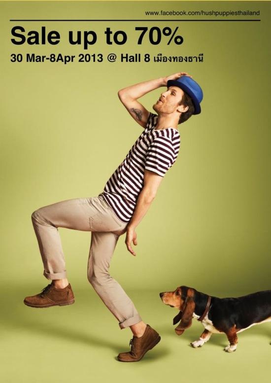 โปรโมชั่น Hush Puppies Sale ลดสูงสุด 70% ที่ Imapct Hall 8 (เมย.56)