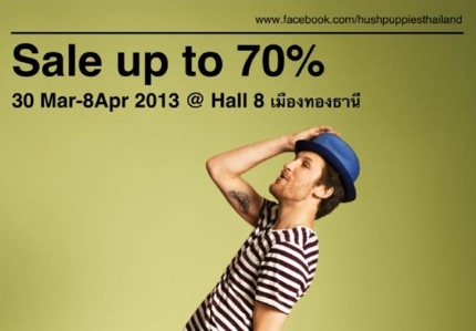 Promotion Hush Puppies Sale up to 70% @ Imapct Hall 8 [1-8Apr.2013]