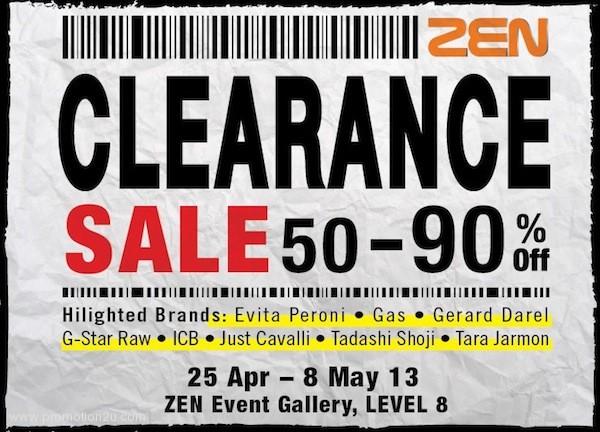 โปรโมชั่น ZEN Clearance Sale ลดสูงสุด 90% ( เม.ย.56 )