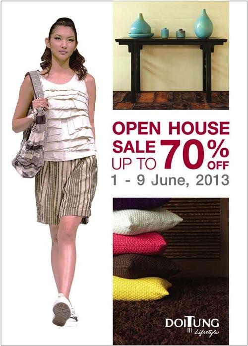 โปรโมชั่น DoiTung Open House Sale ลดสูงสุด 70% (มิย.56)