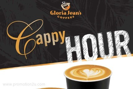Promotion Gloria Jean's Coffee Cappy Hour Second Drink Get 50% off [May.-Jun.2013]
