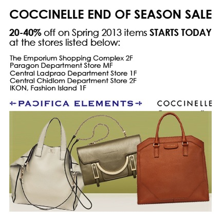 Promotion COCCINELLE End of Season Sale up to 40% off [jun.2013]