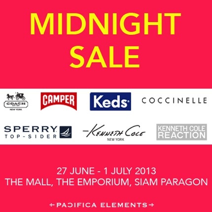 Promotion Midnight Sale Special Offer COACH, CAMPER, KEDS, COCCINELLE, SPERRY TOP-SIDER, KENNETH COLE NEW YORK, KENNETH COLE REACTION
