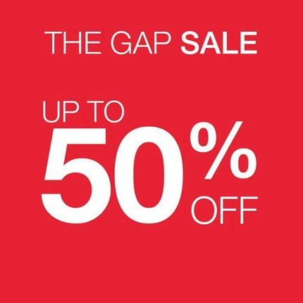 Promotion The GAP Sale up to 50% off 2013