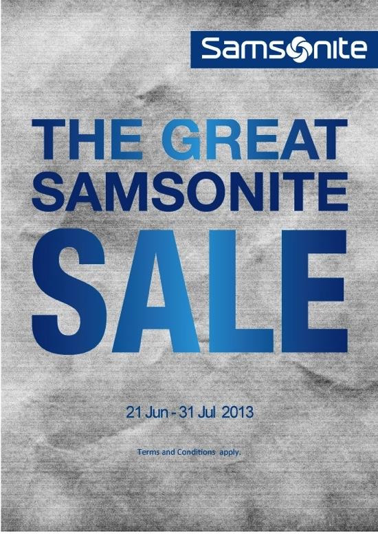 โปรโมชั่น The Great Samsonite Sale ลดสูงสุด 70%