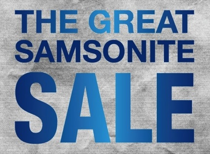 Promotion The Great Samsonite Sale up to 70% off 2013