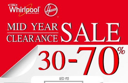 Promotion Whirlpool, Hoover Mid-year Clearance Sale 2013 up to 70% off