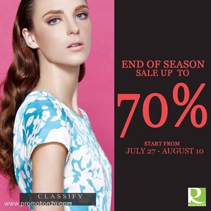 โปรโมชั่นเอาใจ Working Woman : Classify End of Season Sale ลดสูงสุด 70%!!! @ โรบินสัน
