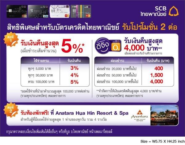โปรโมชั่นบัตรเครดิตไทยพาณิชย์ งาน เที่ยวทั่วไทย ไปทั่วโลก ครั้งที่ 13