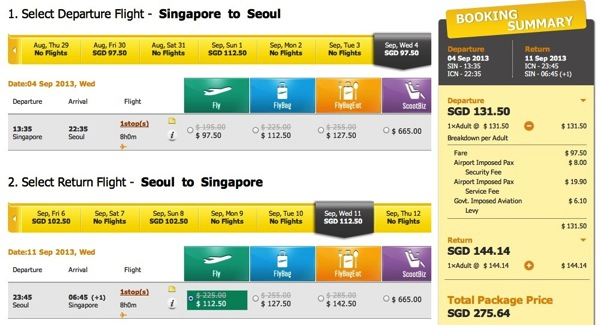 Scoot Promotion To Sydney