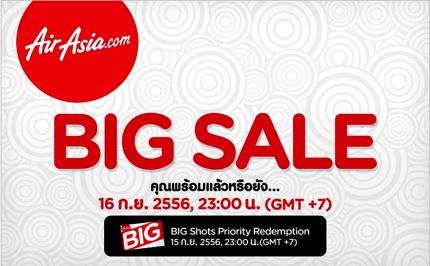 Promotion AirAsia BIG SALE 1 Million Free Seats [Sep.2013]
