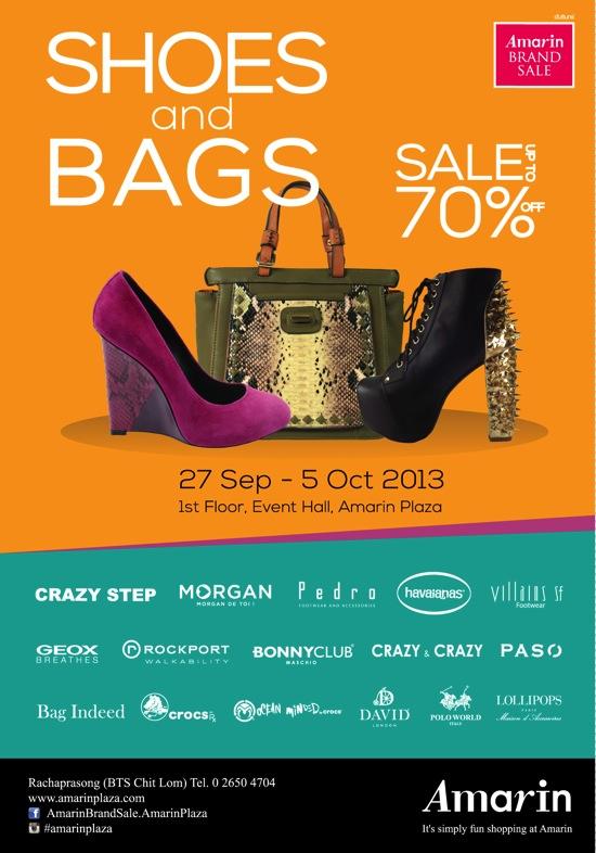 โปรโมชั่น Amarin Brand Sale: SHOES & BAGS Sale ลดสูงสุด 70%