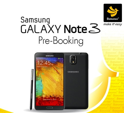 Promotion Banana IT Samsung Galaxy Note 3 Pre-Booking