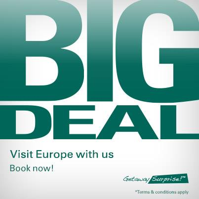 Promotion Cathay Pacific Big Deal Getaway Surprise! Europe