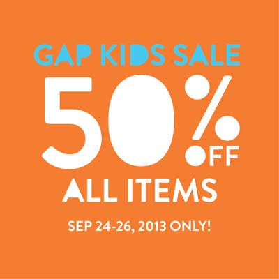 Promotion GAP Kids Sale 50% All Items