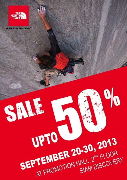 Promotion The North Face Sale up to 50% off @ Siam Discovery