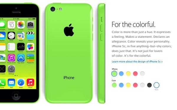 iPhone 5C รูปด้านหน้า-หลัง-ด้านข้าง