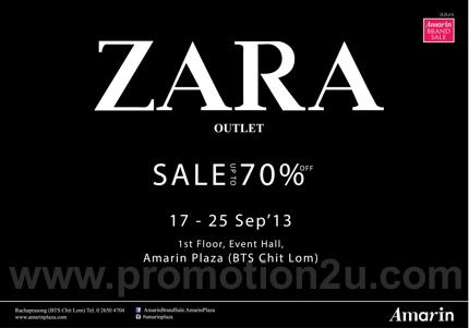 Promotion Amarin Brand Sale : ZARA SALE up to 70% off