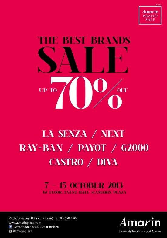 โปรโมชั่น Amarin Brand Sale: The Best Brands Sale ลดสูงสุด 70%