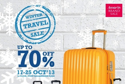 Promotion Amarin Brand Sale : Winter Travel Sale 2013 up to 70% off