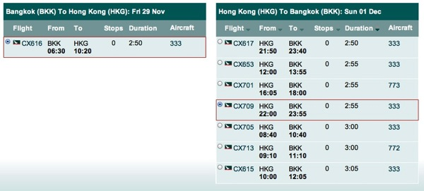Promotion Cathay Pacific Getaway Surprise! Big Deal Hong Kong Flights Schedule