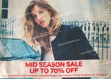 Promotion H&M MID SEASON SALE 2013 up to 70% off
