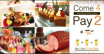 Promotion Inter Dinner Buffet Come 4 Pay 2 @ Grand Cafe 3rd Anniversary The Grand FourWings Convention Hotel