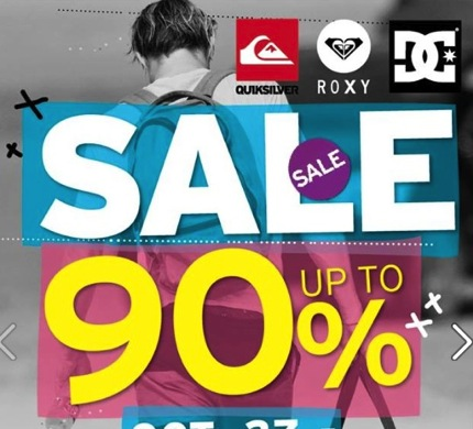 Promotion Quicksilver Roxy DC Sale up to 90% off