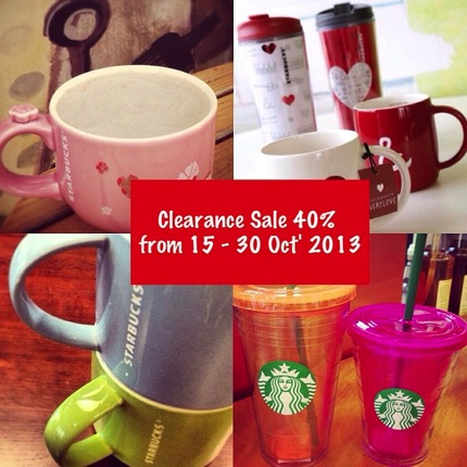 Promotion Starbucks Mugs & Tumblers Clearance Sale 40%*