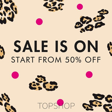 Promotion TOPSHOP Sale is on Start from 50% off [Oct.2013]