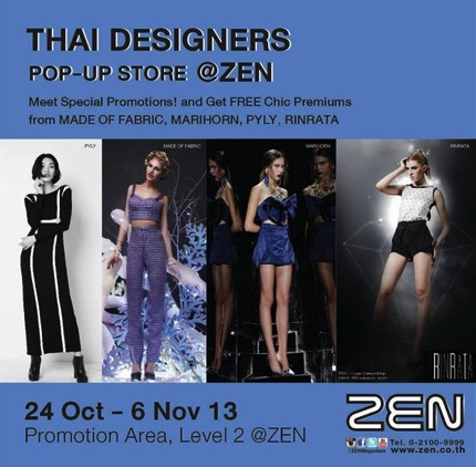 Promotion Thai Designers Pop Up Store Sale up to 50% off @ ZEN