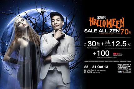 Promotion ZEN Halloween Sale All Zen 2013 up to 70% off
