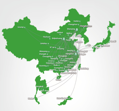 Spring Airlines Route