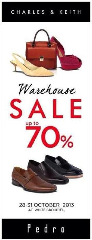 โปรโมชั่น Charles&Keith, Pedro Warehouse Sale ลดสูงสุด 70%