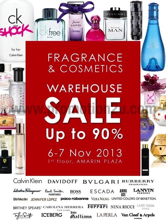 โปรโมชั่นงานเซลน้ำหอมและเครื่องสำอางล้างสต๊อก Fragrance & Cosmatics Warehouse Sale ลดสูงสุด 90%