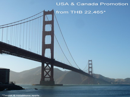 Cathay Pacific Special Promotion from Thailand to U.S.A. & Canada