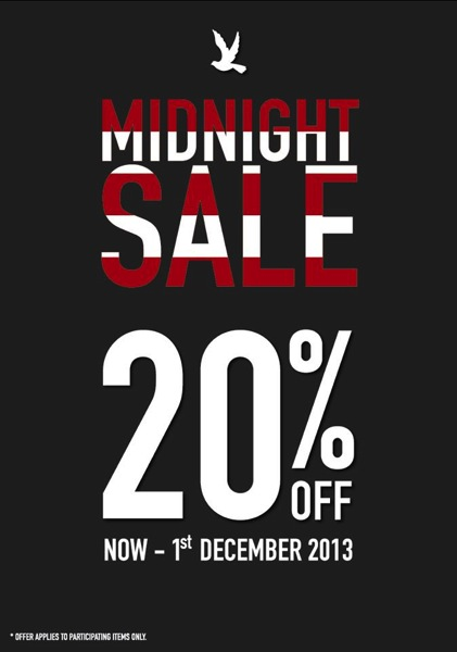 Promotion CC Double O Midnight Sale 20%