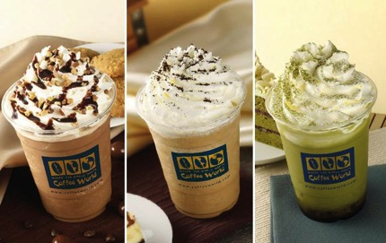 Promotion Coffee World Frappe or Iced Menu Save 50% off @ Seacon Bangkae