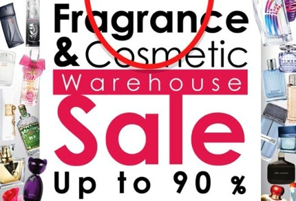 Promotion Fragrance & Skincare Warehouse Sale up to 90% off