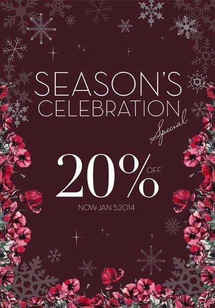Promotion JASPAL Season's Celebration Special up to 20% off